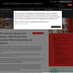 Challenges in the library's zones and spaces - MODEL PROGRAMME FOR PUBLIC LIBRARIES