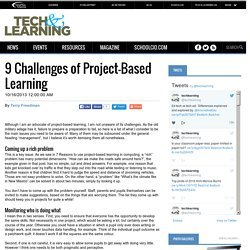 9 Challenges of Project-Based Learning