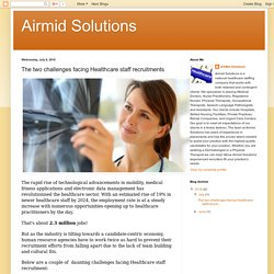 Airmid Solutions: The two challenges facing Healthcare staff recruitments