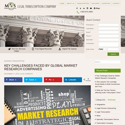 What are the Key Challenges faced when doing Global Market Research?