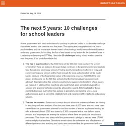 The next 5 years: 10 challenges for school leaders