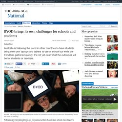 BYOD brings its own challenges for schools and students