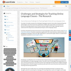 Challenges and Strategies for Teaching Online Language Classes - The Research - LearnCube