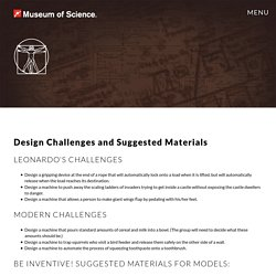 Design Challenges and Suggested Materials