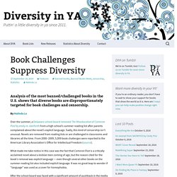 Book Challenges Suppress Diversity
