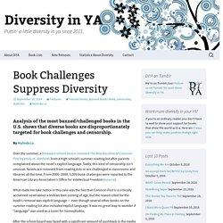 Book Challenges Suppress Diversity