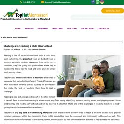 Challenges in Teaching a Child How to Read