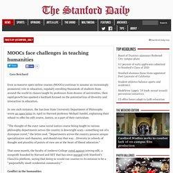 MOOCs face challenges in teaching humanities