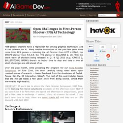 Open Challenges in First-Person Shooter (FPS) AI Technology