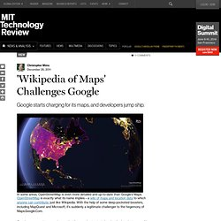 'Wikipedia of Maps' Challenges Google