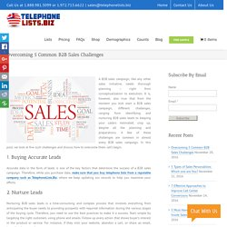 How to Overcome on 5 Common B2B Sales Challenges - Blog TelephoneLists