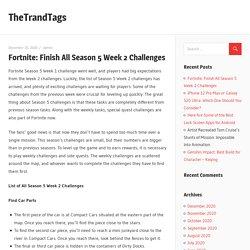 Fortnite: Finish All Season 5 Week 2 Challenges - TheTrandTags