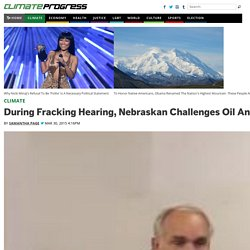 During Fracking Hearing, Nebraskan Challenges Oil And Gas Commission To Drink Wastewater