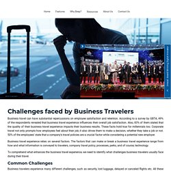 Challenges faced by Business Travelers - Beepnbook