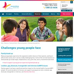 Challenges young people face