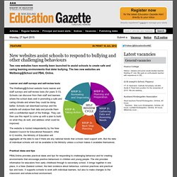 New websites assist schools to respond to bullying and other challenging behaviours