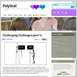 Challenging Challenges (part 1)