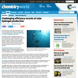 Challenging efficiency records of solar hydrogen production