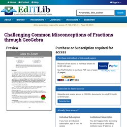 Challenging Common Misconceptions of Fractions through GeoGebra