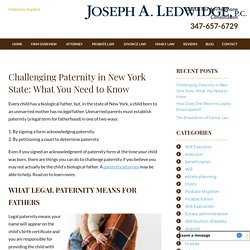 Challenging Paternity in New York State: What You Need to Know