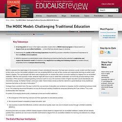 The MOOC Model: Challenging Traditional Education (EDUCAUSE Review