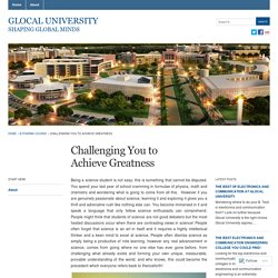 Challenging You to Achieve Greatness « Glocal University
