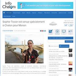 29/07 Sophie Tissier est venue spécialement à Chalon pour Manon