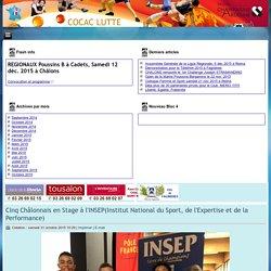 Cinq Châlonnais en Stage à l'INSEP(Institut National du Sport, de l'Expertise et de la Performance)