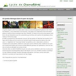 Lycée de Chamalières » Un jardin fabriqué dans le parc du lycée