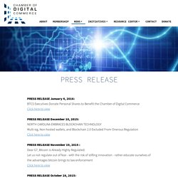 Chamber of Digital Commerce - Press Release