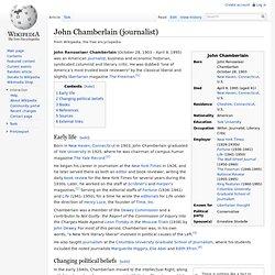 John Chamberlain (journalist)