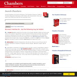 Search Chambers - Free English Dictionary