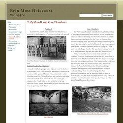 7. Zyklon-B and Gas Chambers - Erin Moss Holocaust website