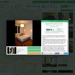 Chambre dispo dans une colocation 3 pièces de 70 m² à Paris
