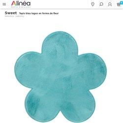 Tapis bleu lagon en forme de fleur - Sweet - Tapis de chambre d'enfants-Tapis, Rideaux, Coussins-Univers des enfants-Par type de produit