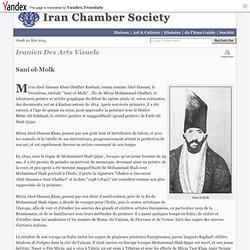 Sani-ol-molk : Iran Chamber Society-Iranian Visual Arts