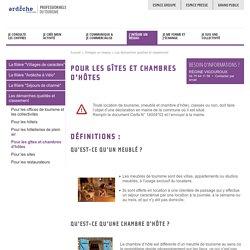 Pour les gîtes et chambres d'hôtes Ardèche - Professionnels du tourisme en Ardèche