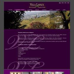 Villa Lavaux b&b vous offre des chambres d'hôtes de charme au style raffiné et élégant.