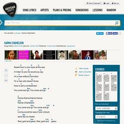 Karma Chameleon ( Culture Club ) ‒ Guitar- and Ukulele chords - GuitarParty.com
