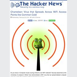 Chameleon Virus that Spreads Across WiFi Access Points like Common Cold