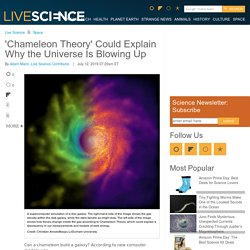'Chameleon Theory' Could Explain Why The Universe Is Expanding
