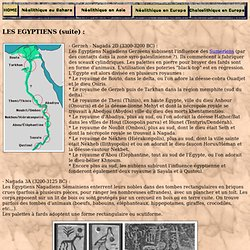 CHAMITES EGYPTIENS