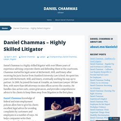 Daniel Chammas – Highly Skilled Litigator
