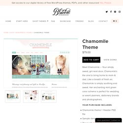 Chamomile WordPress Theme l BluChic