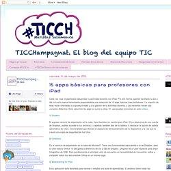 TIC Champagnat: 15 apps básicas para profesores con iPad