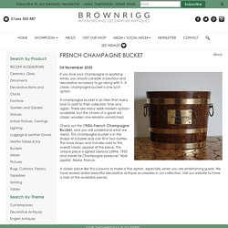 French Champagne Bucket : Brownrigg Interiors,UK