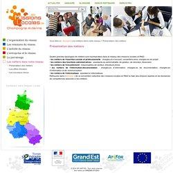 Réseau des Missions Locales de Champagne-Ardenne - Présentation des métiers