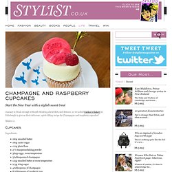 Champagne And Raspberry Cupcakes - Quick and Easy Recipes From Stylist Magazine