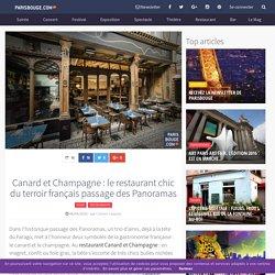Canard et Champagne : le restaurant chic du terroir français passage des Panoramas