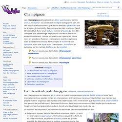 Champignon - Vikidia